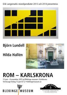 Affisch vernissage Rom-Karlskrona