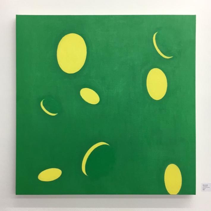 """8. Bjornlundell, Für Abraxas"""", 2016, oil on linen canvas, 70 x 70 cm"""