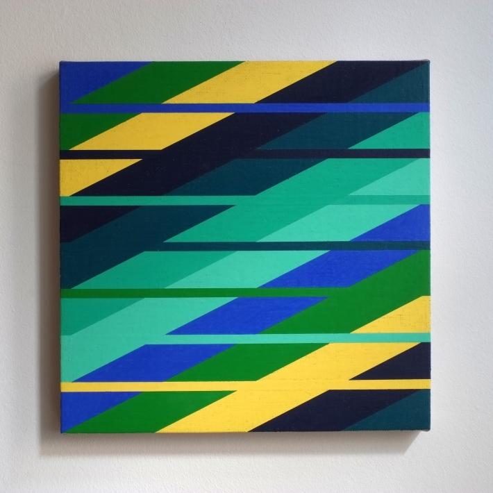 """""""Hauch """", 2016, wax colour on linen canvas, 30 x 30 cm"""